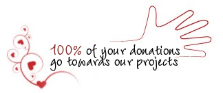 100% of your donations go towards our projects